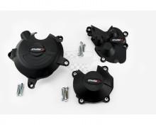 Ochranné kryty motoru PUIG 20132N černý zahrnuje pravý, levý kryt a kryt alternátoru Kawasaki ZX-6R Ninja 09-16