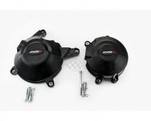 Ochranné kryty motoru PUIG 20131N černý zahrnuje pravý a levý kryt Kawasaki 300 Ninja 14-