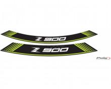 Rim strip Z900 9291V zelená set of 8 rim strips Kawasaki Z 900