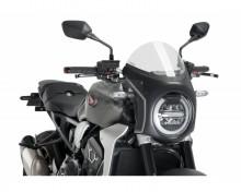 Plexi štít PUIG SEMI-FAIRING 3133W matná černá průhledný Honda CB 1000 R Neo Sports Cafe