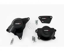 Ochranné kryty motoru PUIG 20129N černý zahrnuje pravý, levý kryt a kryt alternátoru Yamaha R6 06-