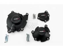 Ochranné kryty motoru PUIG 20142N černý zahrnuje pravý, levý kryt a kryt alternátoru Yamaha MT-10 16-20