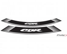 Rim strip CBR Puig 5524B bílá set of 8 rim strips Honda CBR