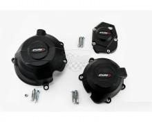 Ochranné kryty motoru PUIG 20135N černý zahrnuje pravý, levý kryt a kryt alternátoru Kawasaki Z 900 17-18, Z 1000 11-18