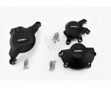 Ochranné kryty motoru PUIG 20121N černý zahrnuje pravý, levý kryt a kryt alternátoru Honda CBR 600 RR 07-16