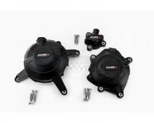 Ochranné kryty motoru PUIG 20130N černý zahrnuje pravý, levý kryt a kryt alternátoru Yamaha R3 16-