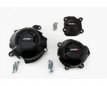 Ochranné kryty motoru PUIG 20136N černý zahrnuje pravý, levý kryt a kryt alternátoru Kawasaki Z 800 13-18