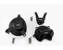 Ochranné kryty motoru PUIG 20137N černý zahrnuje pravý, levý kryt a kryt alternátoru BMW S 1000 XR 15-19, S 1000 R 14-18, S 1000 RR 09-14