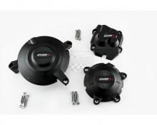 Ochranné kryty motoru PUIG 20133N černý zahrnuje pravý, levý kryt a kryt alternátoru Kawasaki ZX-10R Ninja 11-19