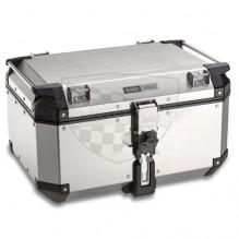 OBK 58 A stříbrný horní kufr GIVI Trekker Outback hliníkový (Monokey topcase), objem 58 ltr.