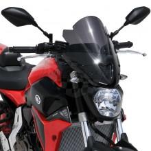 Ermax plexi Yamaha MT-07 14-15 Noir Clair 39cm