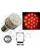Žárovka LED BAY15D červená DS 370730