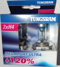 Žárovka Tungsram Megalight H4 12V-60/55W  +120% 50440SNU sada