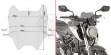 A1164 plexi kouřové Honda CB 125 R (18-20)/CB 300 R (18-20), vxš  210x280 mm, včetně montážní sady