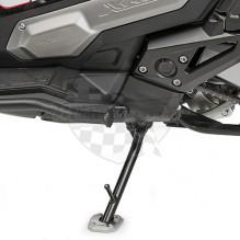 ES1186 rozšíření bočního stojánku pro Honda Forza 750 (21)/X-ADV 750 (21) , stříbné hliníkové