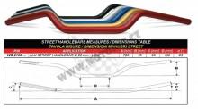Řidítka WRP nízká stříbrná 203.2100-016