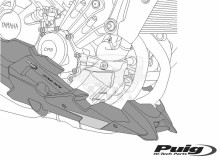 Puig klín pod motor Yamaha XSR 900 16- 8561J
