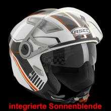 Helma ROCC 121 XS bílá, červená, černá 421212
