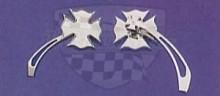 Zrcátka maltézský kříž chrom pár M04-0188