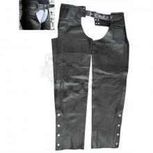 Kožené kalhoty černé - chaps mašle