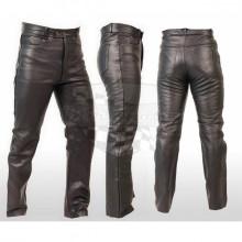 Kožené kalhoty Chopper černé - hladké matt