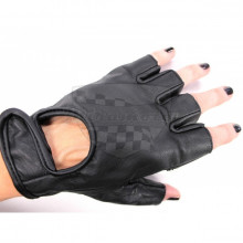 Bezprstové kožené rukavice  M