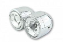 Přední hlavní světlo dvojité chrom 223-433 LED