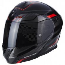 Helma SCORPION EXO - 920 SATELLITE S černá/ červená