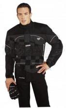 Bunda textilní IXON Fire E4001H pánská dlouhá černá