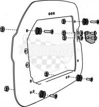 Držák kufrů Trax na boční nosiče Givi/Kappa KFT.00.152.10700B
