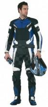 Kožené kalhoty RST Fusion  modré - Doprodej