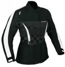 Bunda textilní dámská dlouhá IXON Frimouss E4269F černá , bílá DOPRODEJ