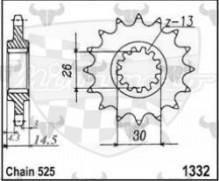 kolečko přední 1332