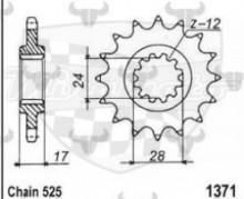 kolečko přední 1371