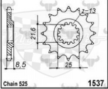 kolečko přední 1537 JT 15 zubů