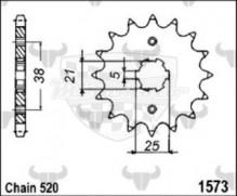 kolečko přední 1573