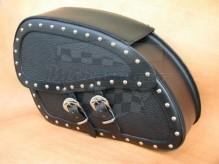 Kožené boční brašny na motocykl Dark 14