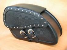 Kožené boční brašny na motocykl Dark 15