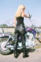 Kožené kalhoty černé NAZRAN Chopper 786-1528