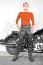 Kožené kalhoty černé NAZRAN Jeans Chopper 786-1527