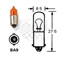 Mini žárovka 12V 23W Mini oranžová krátká Ba9