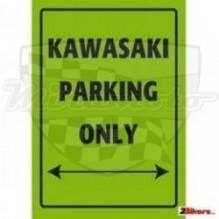 Parkovací cedule Kawasaki parking only