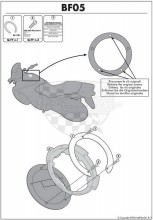 Quicklock / Tanklock kroužek Givi / Kappa BF 05   Yamaha