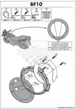 Quicklock / Tanklock kroužek Givi / Kappa BF 10   Suzuki DL 650,1000 Strom 02-10,GSF 600,1200 Bandit