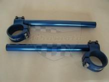 řidítka alu 50mm modré COS 50 pár