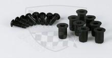 Šrouby do plexi alu sada + gumové matky 8Ks černé PW 160-201